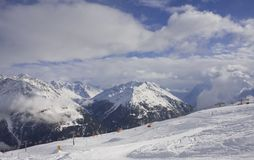 On the slopes of Solden. Austria Stock Photography