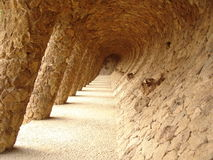 Sloping arches in Barcelona Stock Photography