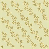 The sloping background, floral. Orange and khaki flowers and leaves on a beige background, pastel colors Stock Images
