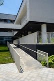 Sloping footpath of newly built modern building Stock Photography