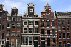 Sloping houses in Amsterdam Stock Photography