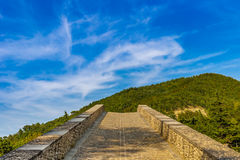 Sloping ramp of humpbacked bridge. Sloping ramp of 16th century humpbacked bridge in Emilia Romagna, Italy royalty free stock photos