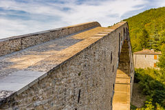 Sloping ramp of humpbacked bridge. Sloping ramp of 16th century humpbacked bridge in Emilia Romagna, Italy stock images
