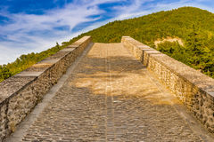 Sloping ramp of humpbacked bridge. Sloping ramp of 16th century humpbacked bridge in Emilia Romagna, Italy royalty free stock photo