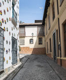 Sloping street Stock Photography