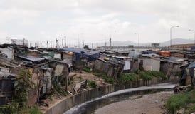 Sloppenwijk in de Gemeenten van Zuid-Afrika Stock Afbeelding