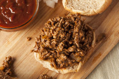 Sloppy Barbecue Beef Sandwhich Stock Photography