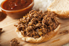 Sloppy Barbecue Beef Sandwich Royalty Free Stock Images
