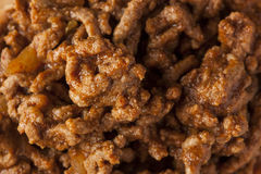 Sloppy Barbecue Beef Sandwich Royalty Free Stock Photography