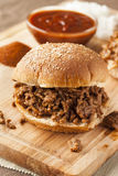 Sloppy Barbecue Beef Sandwich Royalty Free Stock Photos
