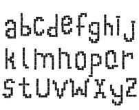 Sloppy domino alphabet 2 Royalty Free Stock Photos