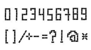 Sloppy domino alphabet 3 Stock Photo