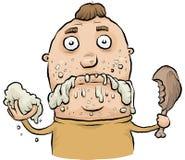 Sloppy Eating stock illustration