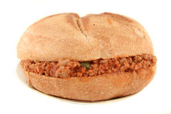 Sloppy hamburger Royalty Free Stock Photography