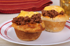 Sloppy Joe in a Biscuit Royalty Free Stock Image