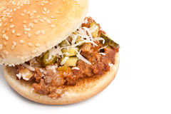 Sloppy Joe burger Royalty Free Stock Photos