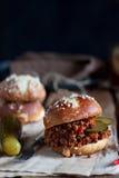 Sloppy joe burger Royalty Free Stock Photos