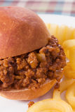Sloppy Joe & Curly Fries Stock Photos