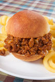 Sloppy Joe & Fries Stock Photo