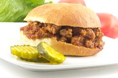 Sloppy Joe. Hearty homemade sloppy joe recipe, messy but delicious Stock Photography
