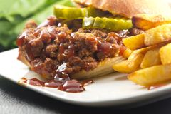 Sloppy Joe. Hearty homemade sloppy joe recipe, messy but delicious Royalty Free Stock Photography