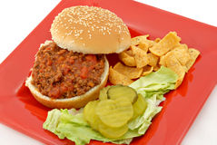 Sloppy Joe Meal Royalty Free Stock Photography