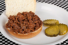 Sloppy Joe Sandwich Stock Photography