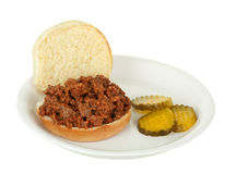 Sloppy Joe Sandwich Isolated Stock Image