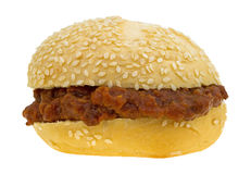 Sloppy joe sesame seed sandwich Royalty Free Stock Image