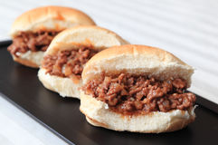 Sloppy Joe Sliders Royalty Free Stock Photography