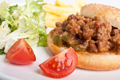 Sloppy Joe Sloppy Joe Lazy Beef Burger Royalty Free Stock Image