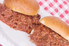 Sloppy Joes with an Angled Perspective Stock Photo