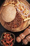 Sloppy joes beef burger sandwich Royalty Free Stock Photography