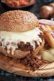 Sloppy joes ground beef burger sandwich Royalty Free Stock Photo