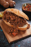 Sloppy Joes ground beef sandwich Royalty Free Stock Photography