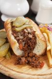 Sloppy joes ground beef sandwich Royalty Free Stock Photos