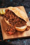 Sloppy joes, ground beef sandwich Royalty Free Stock Photography