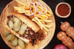 Sloppy joes, ground beef sandwich Royalty Free Stock Image