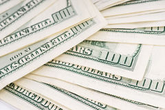 Slordig tapijt van 100 US$ dollar rekeningen Stock Afbeelding