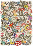 Slordige alfabettextuur Stock Foto
