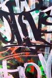 Slordige graffiti Stock Foto