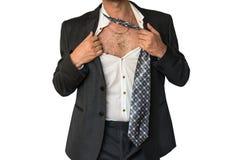 Slordige mens in kostuum Royalty-vrije Stock Fotografie