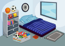 Slordige slaapkamer royalty-vrije illustratie