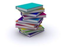 Slordige stapel boeken stock illustratie