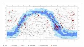 Slordigere Hemelgrafiek - astronomievoorwerpen Stock Fotografie
