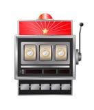 Slot. Vector slot-machine with euro coin Royalty Free Stock Photos