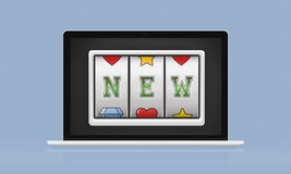 Slot Bingo Words Graphic Concept stock illustration