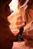 Slot canyon Stock Images
