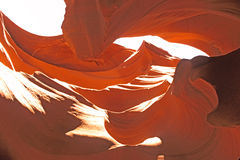 Slot Canyon. Rock formation and colors in lower antelope slot canyon stock photography