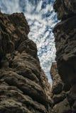 Slot Canyon in California Stock Photo